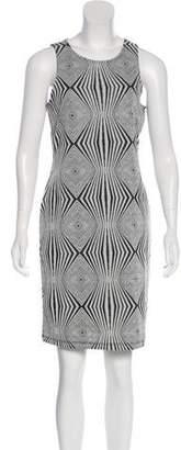 Carmen Marc Valvo Sleeveless Print Mini Dress