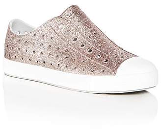 Native Girls' Jefferson Bling Waterproof Slip-On Sneakers - Little Kid