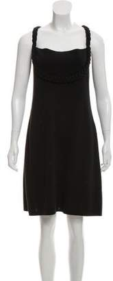 RED Valentino Braid Accented Shift Dress