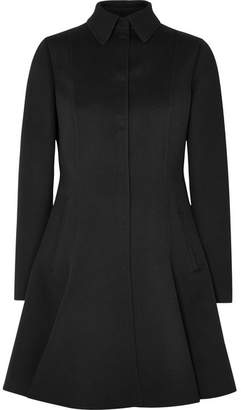 Valentino Wool And Cashmere-blend Coat - Black