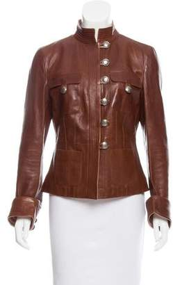Giorgio Armani Structured Leather Jacket