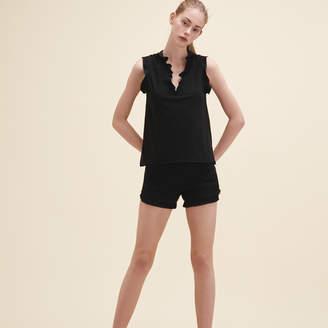 Maje Frilled sleeveless top