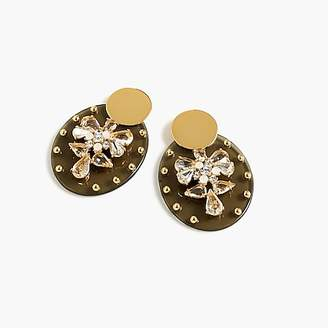 J.Crew Lucite and crystal shield earrings