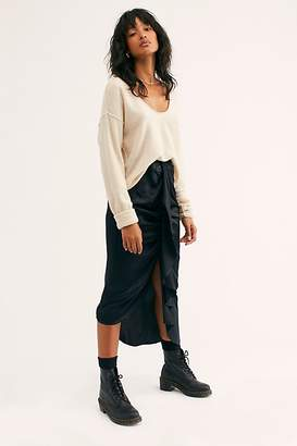 Free People Silk Waterfall Skirt