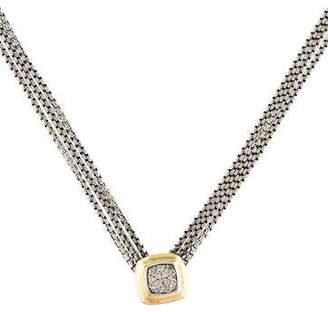 David Yurman Diamond Pave Albion Pendant Necklace