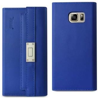 Samsung Reiko Galaxy Note 5 Genuine Leather Rfid Wallet Case And Metal Buckle Belt In Ultramarine