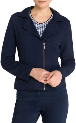 Olsen Notch-Collar Zip-Front Jacket
