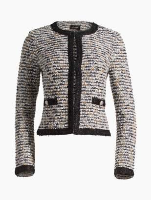 St. John Inlaid Eyelash Knit Jacket