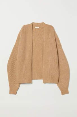 H&M Rib-knit Cardigan - Beige