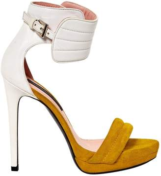 Barbara Bui Yellow Suede Sandals