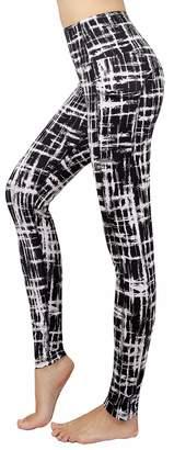 New Minc Women's Galaxy Yoga Pants Capri High Waist Leggings with Pockets(,XL)