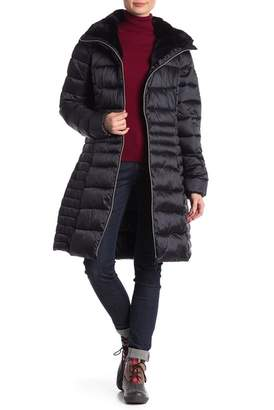 Save The Duck Faux Fur Trimmed Women's Coat