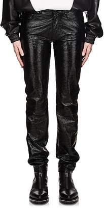 Givenchy Men's Crackled Leather Five-Pocket Pants