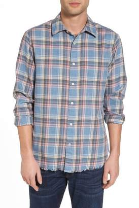 Frame Fray Hem Plaid Flannel Shirt