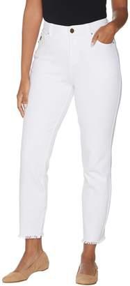 Belle By Kim Gravel Belle by Kim Gravel Flexibelle Frayed Edge Ankle Jeans