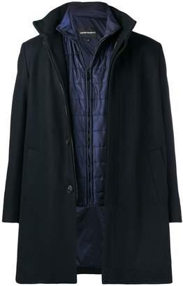 Emporio Armani built-in gilet coat
