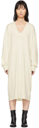 Haider Ackermann White Knitted Invidia Dress