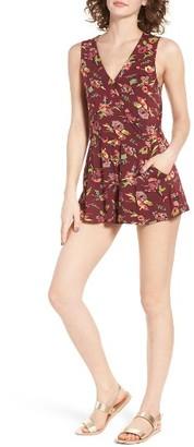 Women's Obey Dark Bloom Romper $55 thestylecure.com