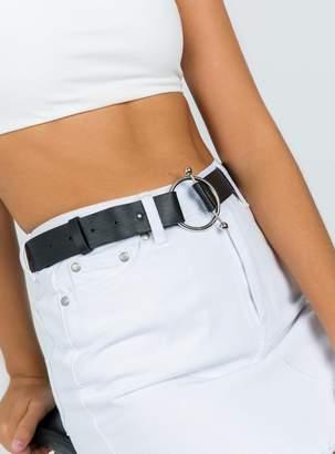 Round Buckle Pin Belt