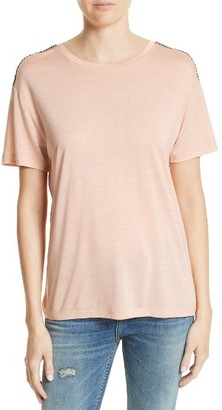 Women's The Kooples Beaded Tee $150 thestylecure.com