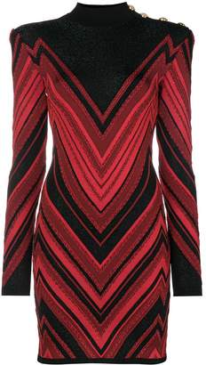 Balmain Chevron dress