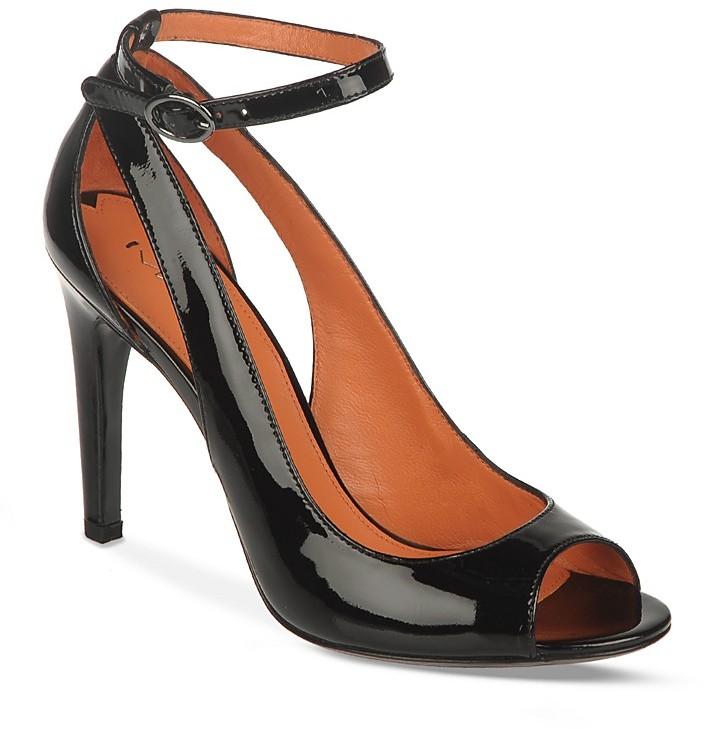 Via Spiga Ankle Strap Open Toe Pumps - Rochelle High Heel
