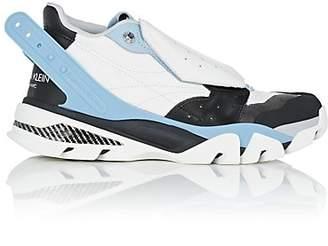 Calvin Klein Men's Rubber-Strap Leather Sneakers - White
