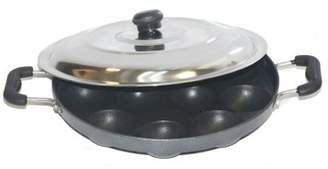 tabakh TABAKH Bright AppamPatra Paniyaram Non Stick Pan with Stainless Steel Lid
