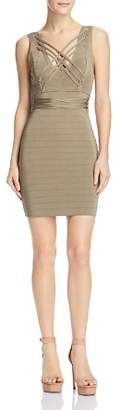 GUESS Lace-Up Bodycon Dress