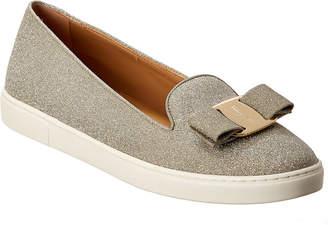 Salvatore Ferragamo Novello Glitter Slip-On Sneaker
