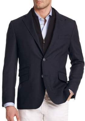 Corneliani Solid Virgin Wool Sportcoat