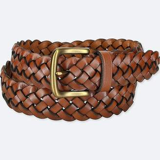 Uniqlo Men's Leather Wide Mesh Belt