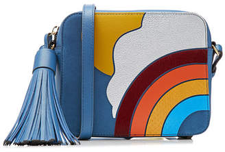 Anya Hindmarch Rainbow Leather Crossbody Shoulder Bag