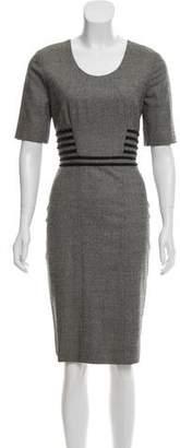 Lyn Devon Wool Knee-Length Dress