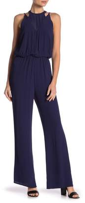 Dee Elly Solid Sleeveless Jumpsuit