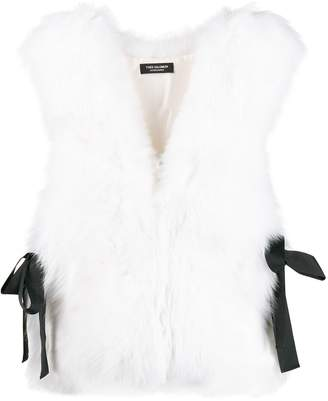 Yves Salomon sleeveless fur vest