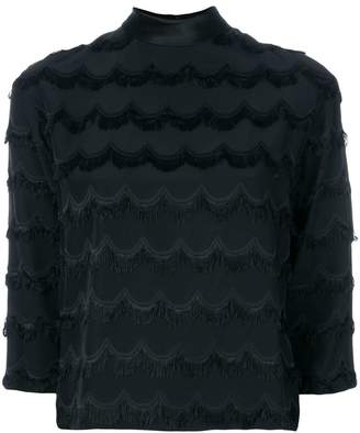 Marc Jacobs fringed scallop blouse