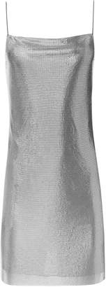Alice + Olivia HARMONY CHAINMAIL MINI SLIP COCKTAIL DRESS