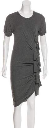 Gryphon Ruched Bow Accent Dress