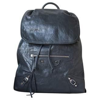 Balenciaga Grey Leather Backpacks