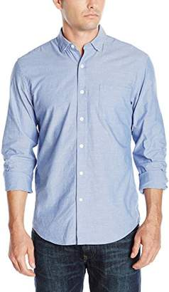 DL1961 Men's Bowery and Bleeker Modern Slim Talilored Fit Button Down Shirt