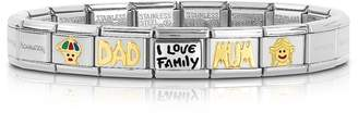 Nomination Classic I Love My Family Golden Stainless Steel Bracelet