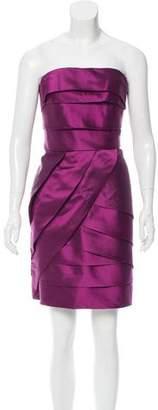 Lela Rose Tiered Silk Mini Dress