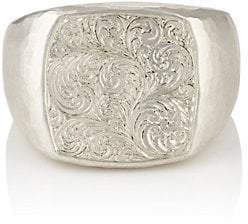 Malcolm Betts Women's Sterling Silver Signet Ring - Gold