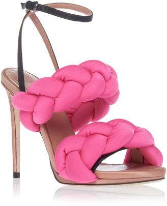 Marco de Vincenzo Braided Ankle Strap Sandal $950 thestylecure.com