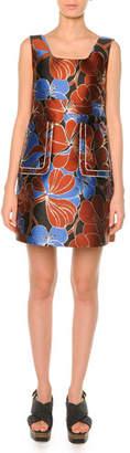 Marni Pimpernel Blossom Jacquard Dress , Raisin