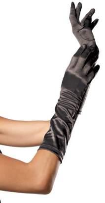 Leg Avenue Women's Elbow Length Satin Gloves