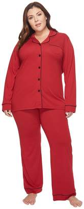 Cosabella Plus Size Bella PJ Long Sleeve Top and Pants PJ Set Women's Pajama Sets