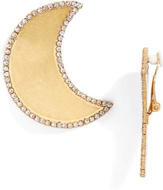 Tory Burch Crescent Moon Clip Earrings