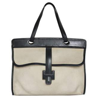 Hermes Canvas Shopping Bag